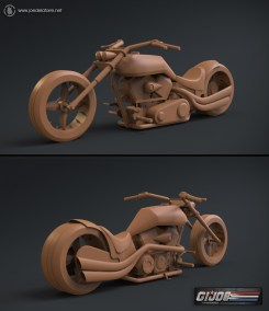GI JOE Renegades - Motorcycle Clay