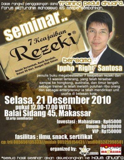 poster seminar dengan fasilitas berupa ilmu