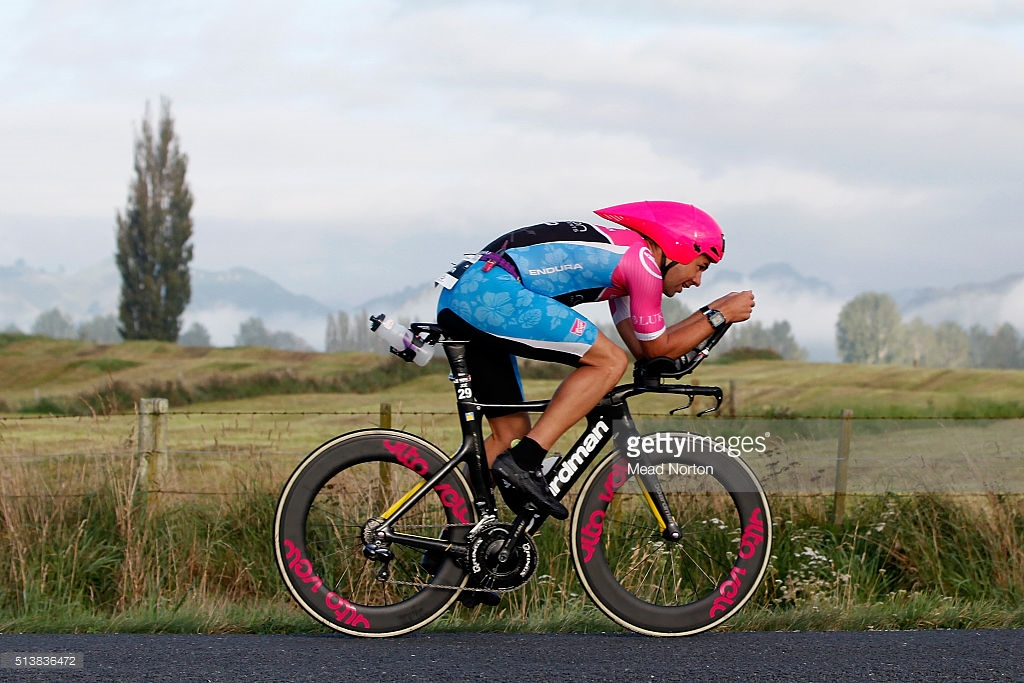 during the 2016 Taupo Ironman on March 5, 2016 in Taupo, New Zealand.