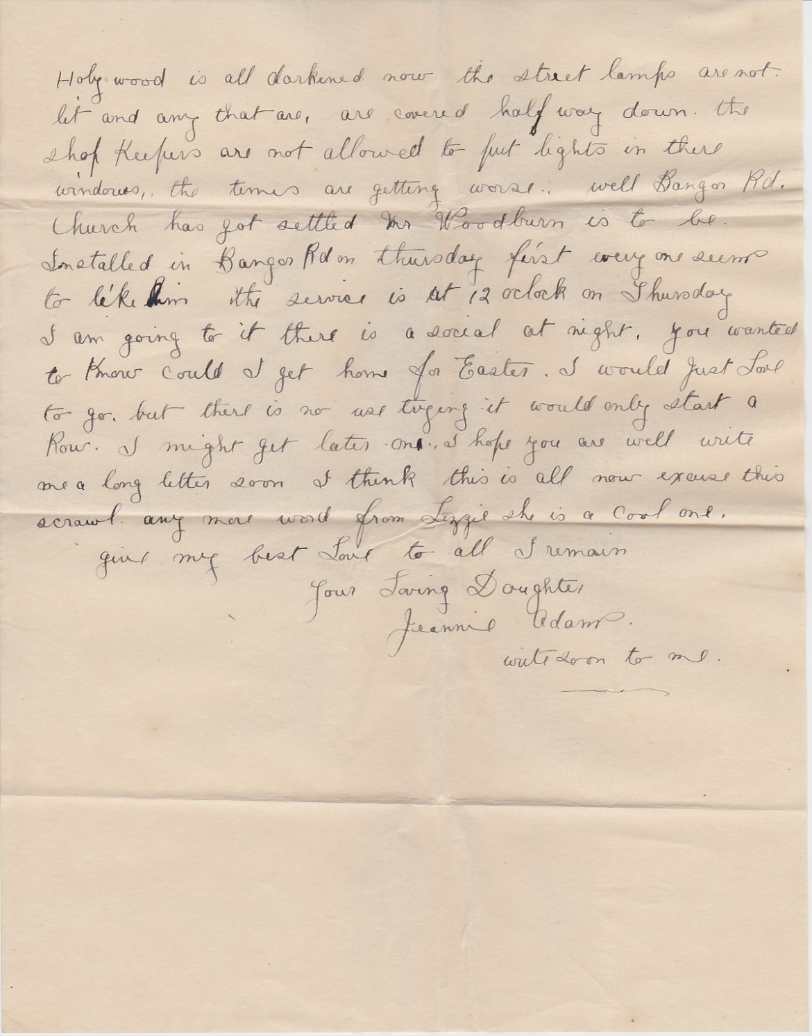 16 04 16 Church Hill Jeannie letter 02