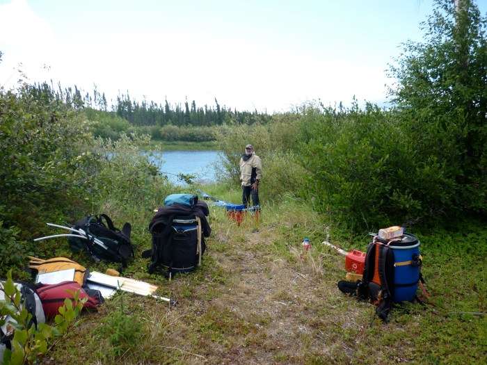 Start of our last portage, a mandatory carry around Burr Falls