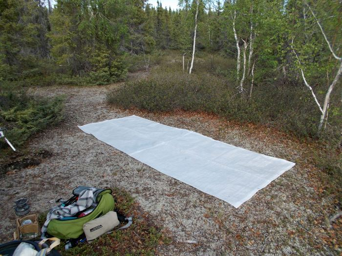 Lay out the groundsheet (ours is double thickness for extra protection from sharp rocks)