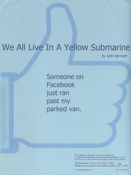 john bennett | we all live in a yellow submarine