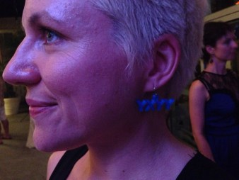 Vanessa models 3d printed earrings