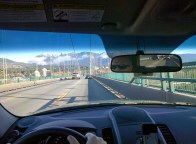 Driving over the Lion's Gate Bridge