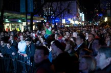 Watching the evening events on Robson Street