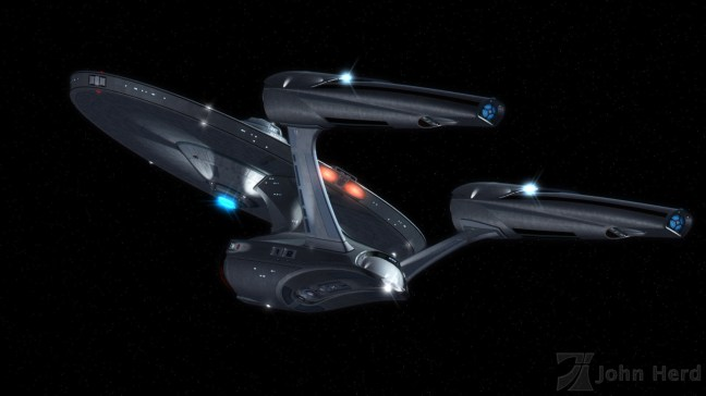3D render of alternate USS Enterprise NCC-1701