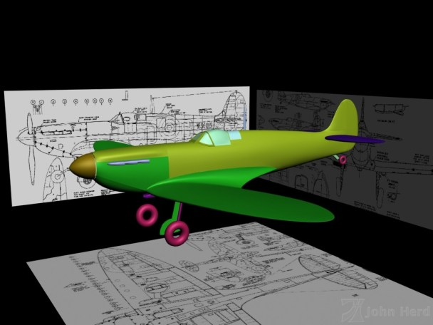Unfinished 3D Supermarine Spitfire