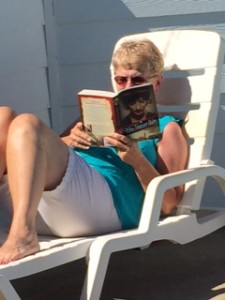 Jean's friend Nancy at Outer Banks