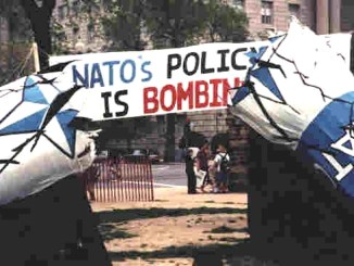 nato's policy is bombing serbia