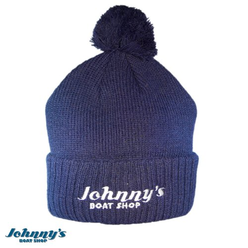 Johnny's Boat Shop Navy Blue Touque