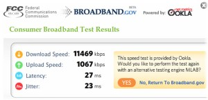 Consumer Network Test at FCC Website