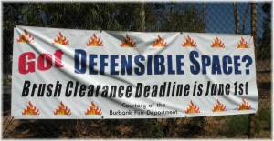 Defensible space to avoid brush fires