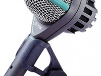 The most widely-used kick drum mic in the world. Also great on acoustic bass and electric bass cabs.