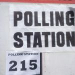 The sign outside the polling staion for Jo Ind's polling day blog