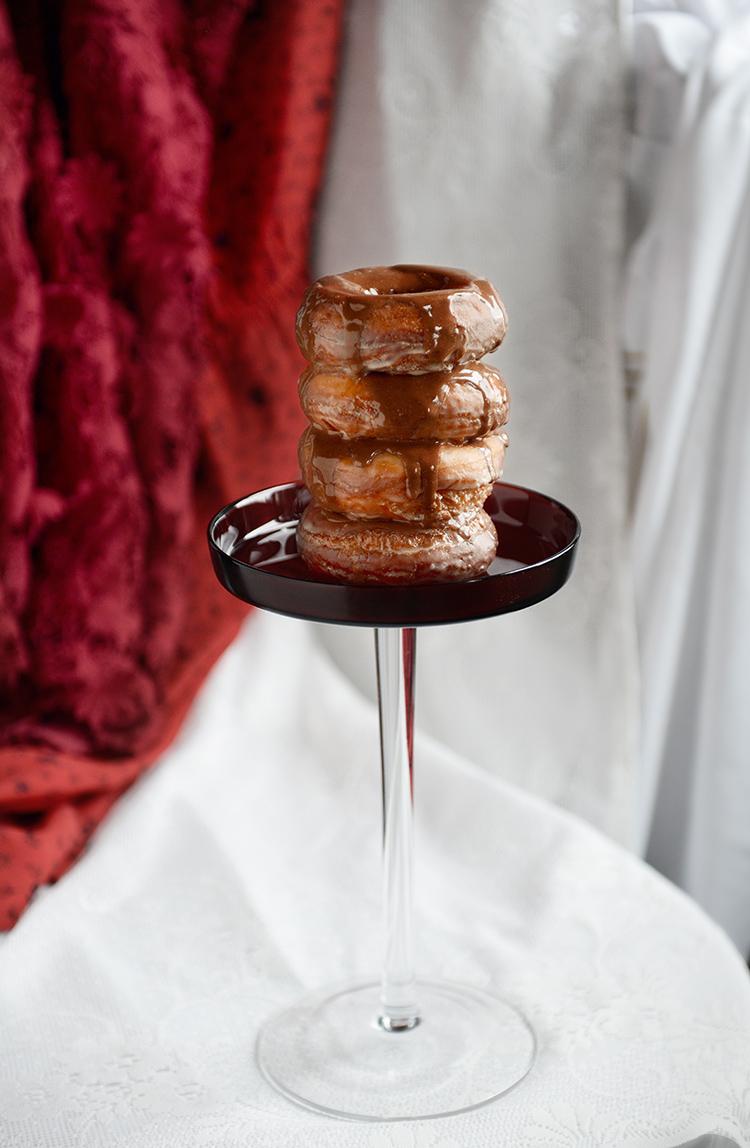 donut o' the month // chocolate glazed whole wheat donut recipe www.jojotastic.com