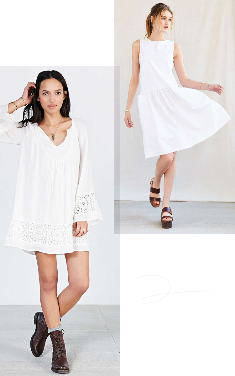 goodbye LBD, hello little white dress