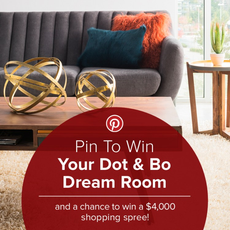 enter to win $4,000 to shop for your dream room from Dot & Bo #giveaway