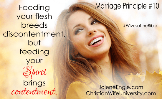 Marriage Principle #10 from the Wives of the Bible by Jolene Engle