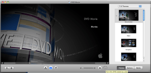 burn dvd movie on mac with iDVD