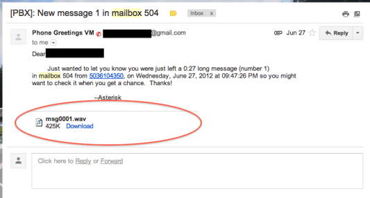 asterisk voicemail to gmail attachment