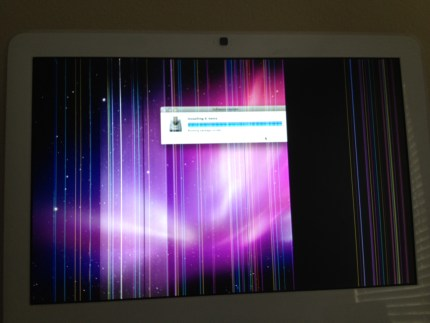 "iMac 17"" Intel LM171W02 lcd screen vertical lines"