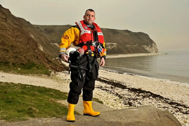 RNLI lifeboatman Andy Lyne who works from Flamborough lifeboat station