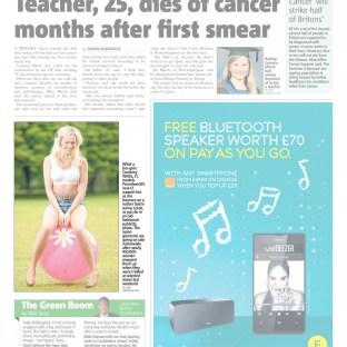 Poundworld £1 bra in the Metro newspaper