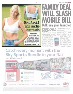 Poundworld £1 bra in the Scottish Sun
