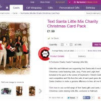 Little Mix Text Santa Charity Christmas Cards hit Hallmark shops today