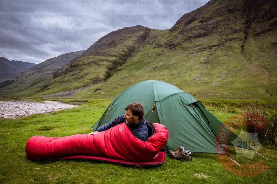Minimus Combi sleeping bag by PHD in the Scottish Highlands