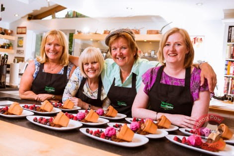 The Flat Cap Cook, Sue Nelson (third from left), with Kitchen Social guests