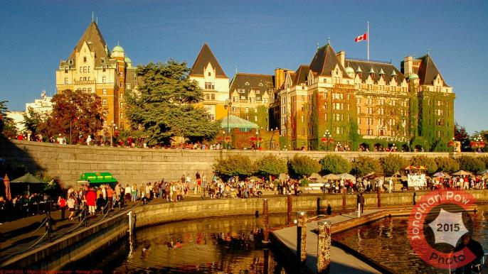 Fairmont Empress view from the harbour