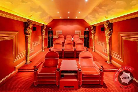 Art deco home cinema, Ludhill House