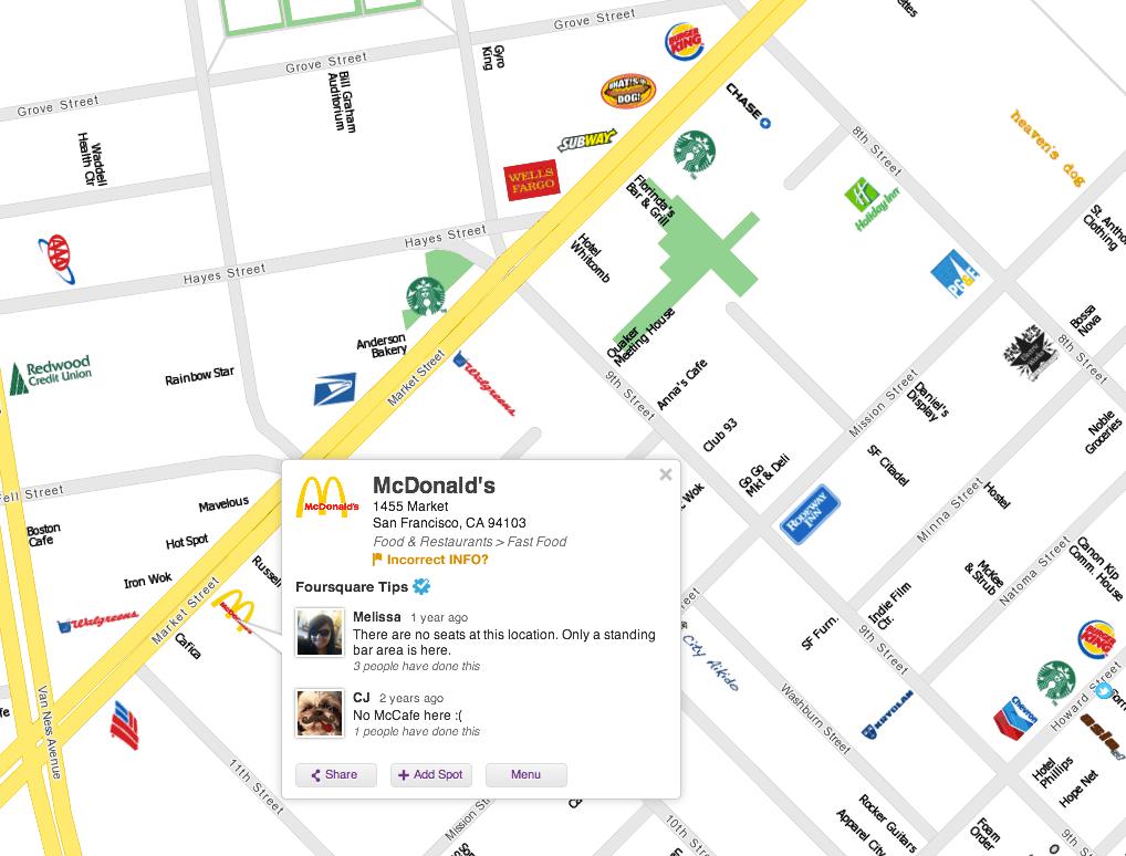 an example CityMap of San Francisco