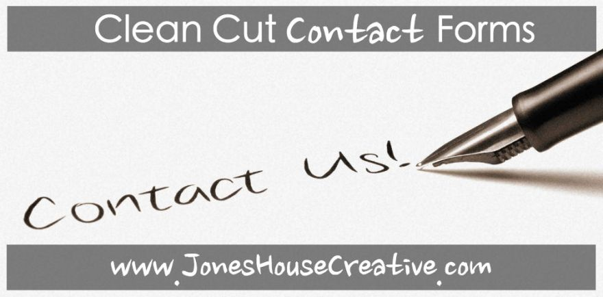 Clean Cut Contact Forms from Jones House Creative