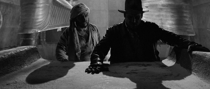 Raiders of the lost ark in black and white
