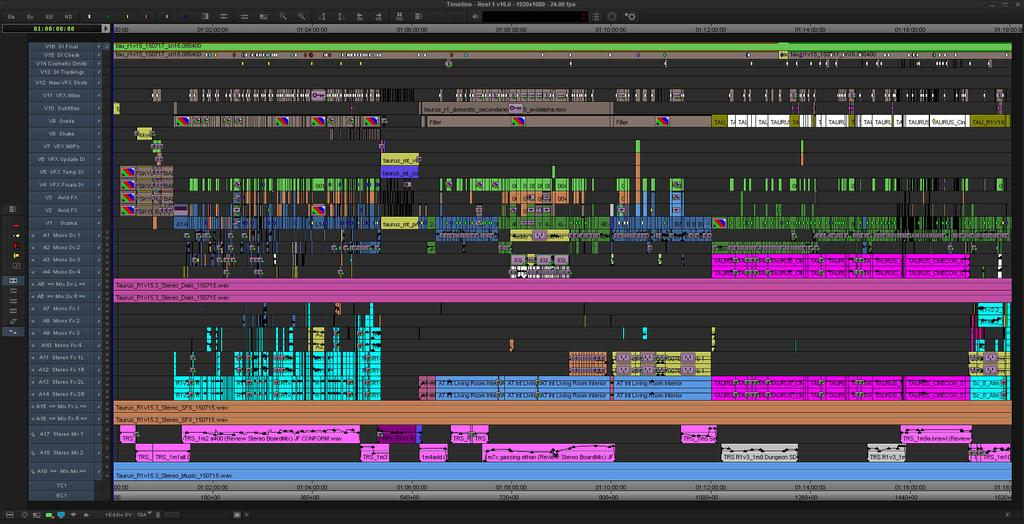 Mission Impossible Rogue Nation Avid Timeline