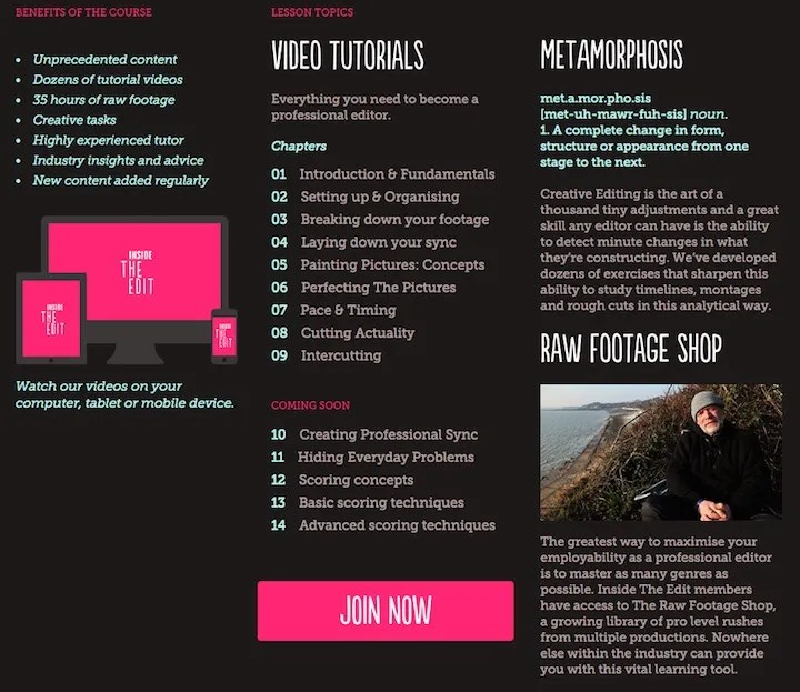 Inside the edit - editing course review promo code