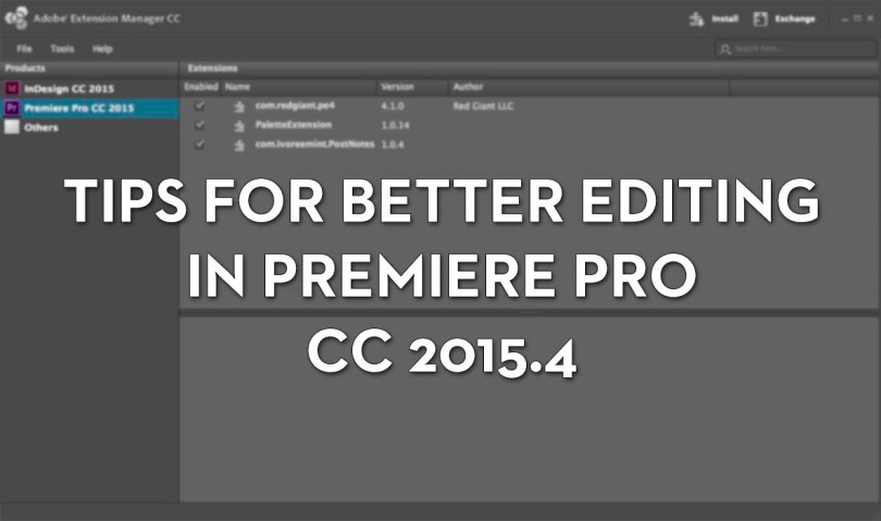 Premiere Pro Tips for latest update