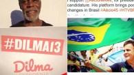 Mensagens publicadas na internet mostram apoio de Danny Glover e Lindsay Lohan a Dilma Rousseff e Aécio Neves - Foto - Reprodução