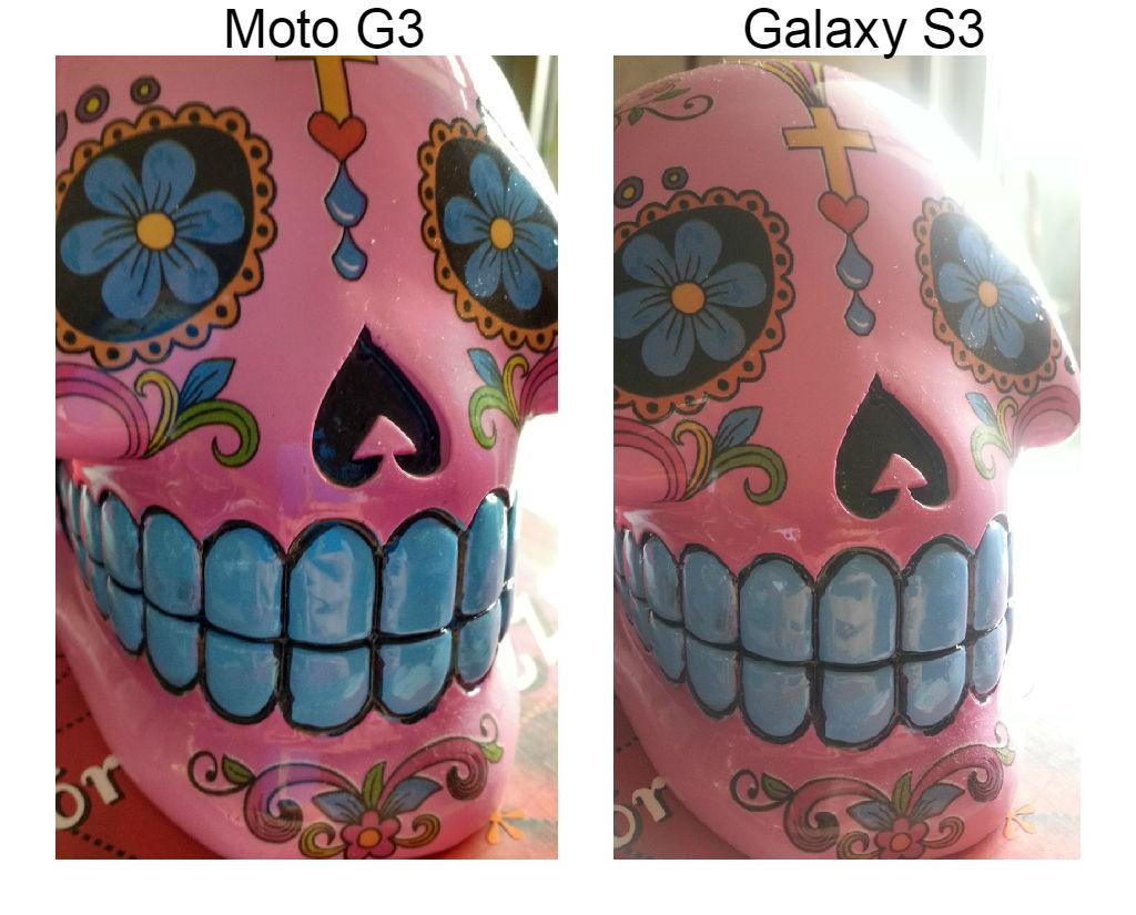 Câmera traseira Moto G3 comparando com a do Samsung Galaxy S3