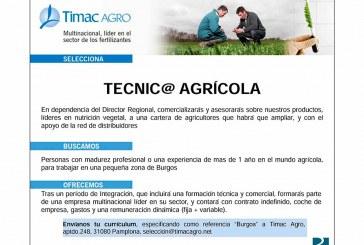 Timac AGRO busca Técnico Agrícola para Burgos