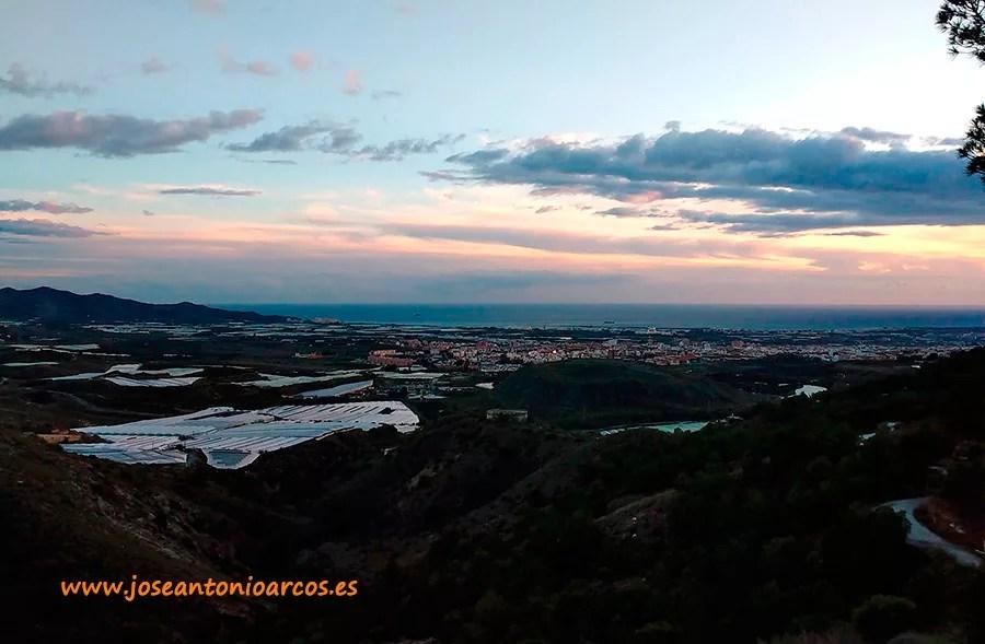 Panorámica del campo de Motril en la costa de Granada.