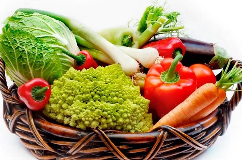 Bodegón de hortalizas.