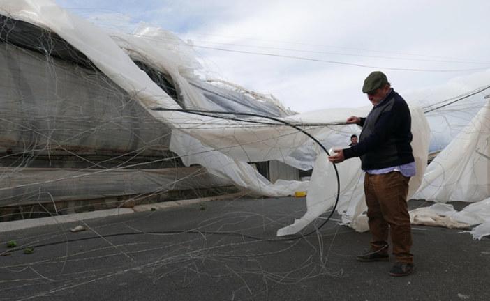 Daños de los tornados también en Adra, Berja, La Mojonera, Vícar y Roquetas