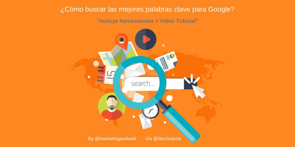 """¿Cómo buscar palabras clave para Google? + """"Vídeo Tutorial"""""""