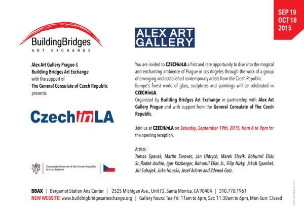 Pozvánka na výstavu českých umělců do USA