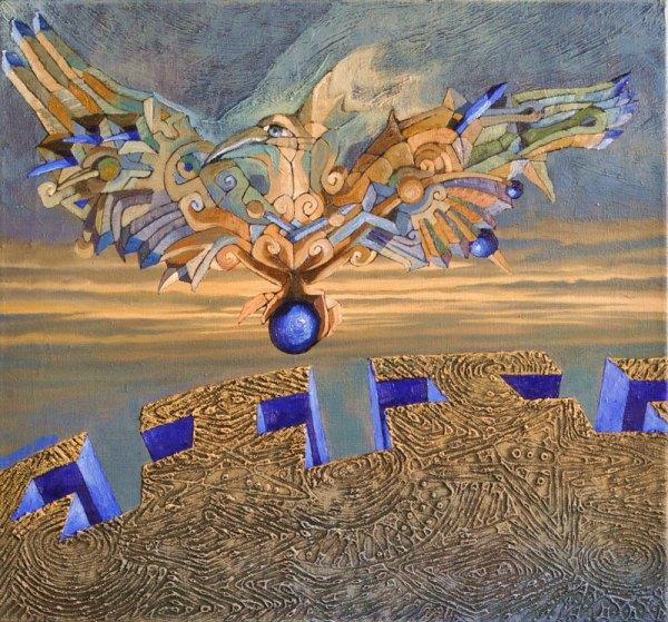 Josef Acherer Můj modrý poklad 72 cm x 67 cm