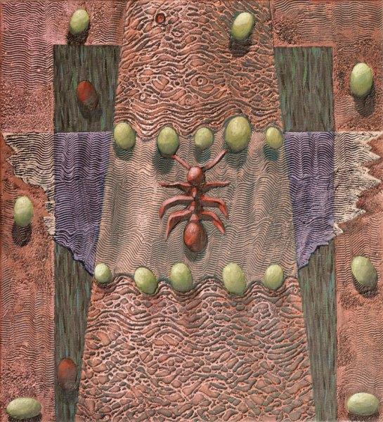 Josef Achrer Opuštěné termitiště 52cm x 57cm